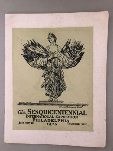 1926 SESQUICENTENNIAL International Exposition, PHILADELPHIA PA booklet
