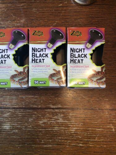 Zilla Night Black Incandescent Spot Heat Bulb 75 Watt 3 Pack  - $5.25