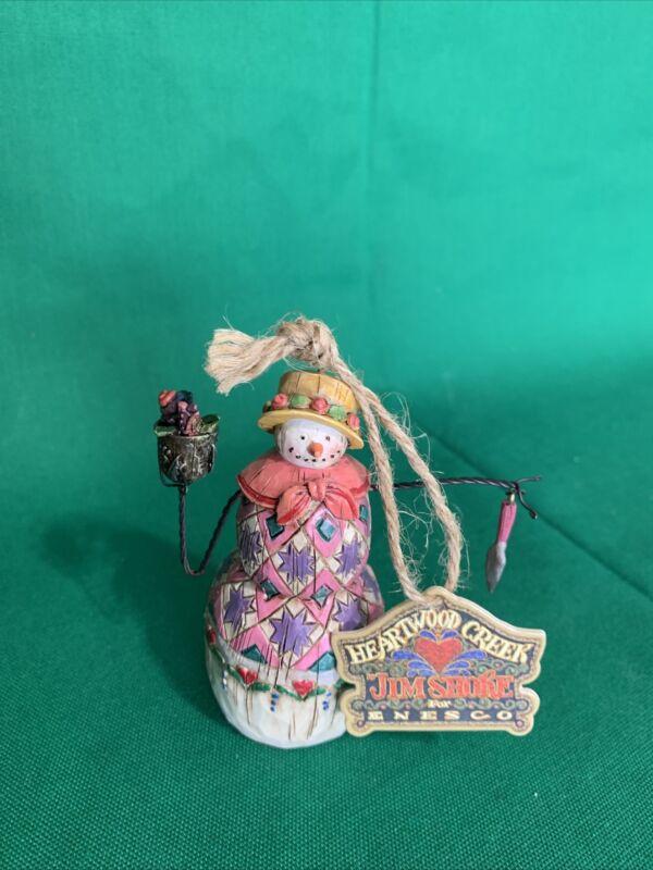 "Jim Shore Winter's Bounty Snowman Harvest 4"" Ornament B113110 Christmas AJ"