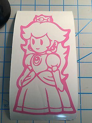 Princess Peach Luigi (Nintendo|Princess Peach|Mario Bros|Mario Kart| Princess|Mario|luigi|Decal|Vinyl)