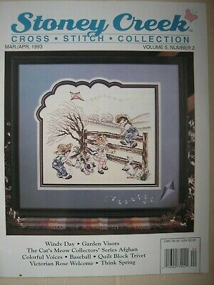 Stoney Creek Magazine Vol 5 Number 2 March April 1993 Counted Cross Stitch -