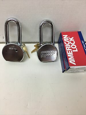 2 Series 700 American Lock Padlock Keyed Alike