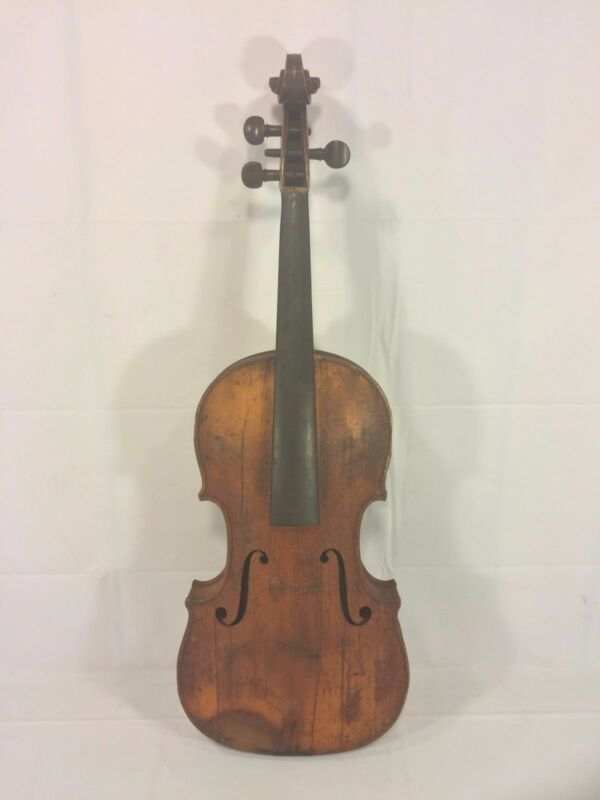 Ant Violin 2 Piece Belly 1 Piece Back Inlaid Purfling Neck Disconnected No Label