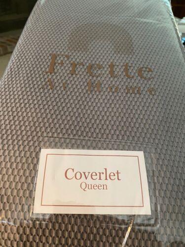 queen coverlet matlasse creta grey new cotton