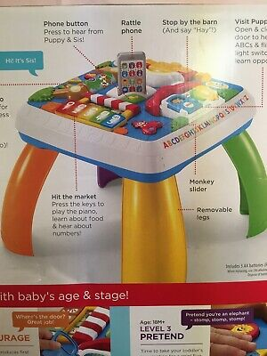 Fisher Price 6-36M Learning Table Educational Activity Center Play Laugh & Learn
