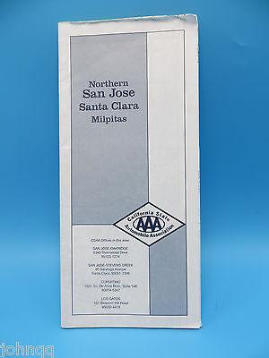 Vintage 1999 AAA Northern San Jose, Santa Clara, Milpitas California Street Map