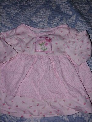 New Potatoes Clothes (New Potatoes Girls Sz. 6 Mo. Pink Design Knit Dress. Adorable )