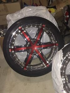 Jeep rims, 22 inch chrome rims
