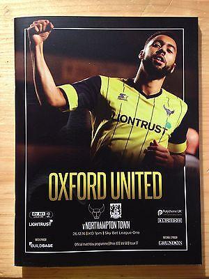 Football Programme: Oxford United v Northampton Town - League 1 - 26/12/2016