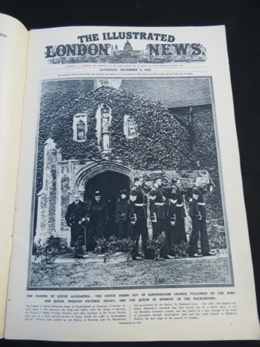 The Illustrated London News December 1922  Funeral of Queen Alexandria