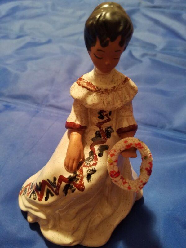 Vintage b of hawaii figurine women with Lei