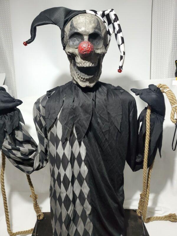 DARK JESTER ON A SWING ~ Spirit Halloween  decoration