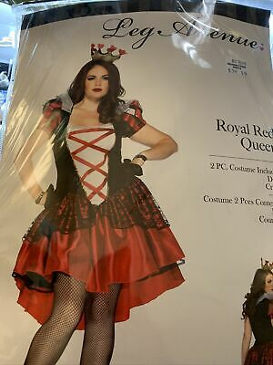 WOMEN'S PLUS SIZE ROYAL QUEEN OF HEARTS COSTUME SIZE 3X/4X Leg Avenue Royal Red