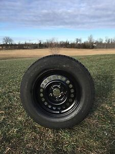 4 Winter tires on rims 195/70/14""