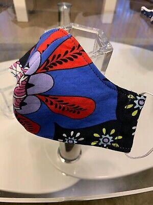 Mund Nasen Bedeckung 2 lagig Baumwolle color Blumen Design - Maske kaufen Schutz
