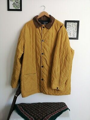 Mustard Yellow Vintage 90s Nautica Quilted Jacket Size XL - Sailing Coat