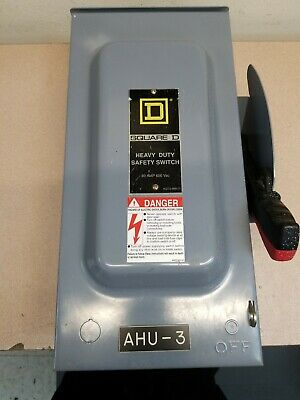 Square D H362nrb Heavy Duty Safety Switch 60a 600vac
