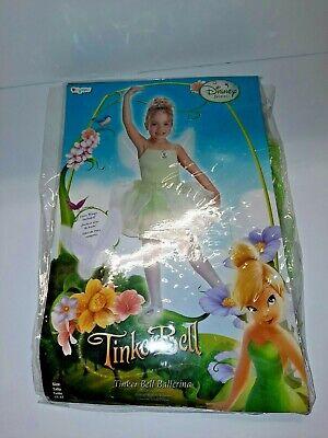 D4 Disguise Disney Tinkerbell Ballernia 3t 4t Toddler Halloween Costume dress