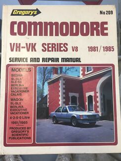 Gregory Commodore VH-VK service/repair manual Fletcher Newcastle Area Preview