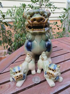 chinese garden foo temple dogs