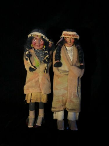 A matched pair of Skookum dolls