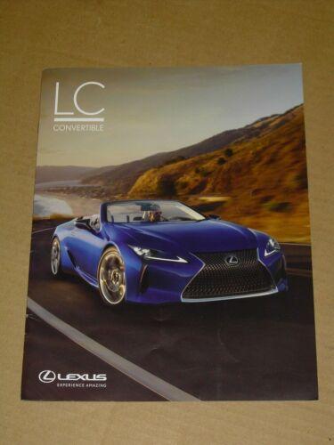 2021 LEXUS LC 500 CONVERTIBLE SALES BROCHURE 8 PAGES