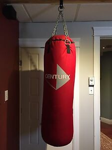 Century Punching bag with hook & gloves - NEW