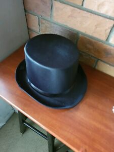 Mans Top Hat for costume, with hat box