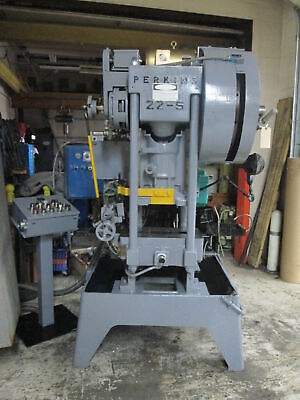 Perkins 22-s 20 Ton 1stroke Gap Frame Press Wbaldor Super-e 3hp Motor Drive