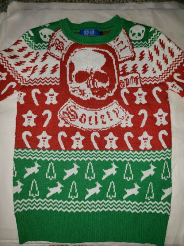 Black Label Society BLS Ugly Christmas Sweater Size Small SDMF