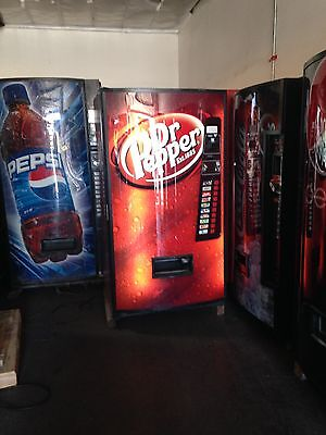 Vendo 540-10 Soda Vending Machine With Coin Bill Acceptor Refurbished