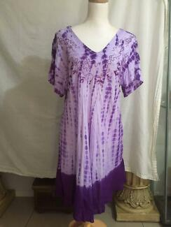 Purple Gypsy Boho Dress Size L / XL VGC