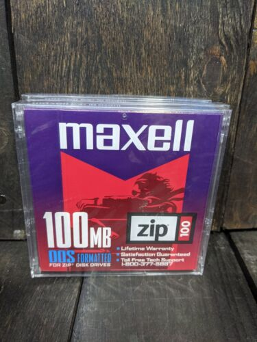 Iomega Zip Disk 100 MB 6 Pack Multi Colored PC Formatted + 3x Maxell DOS Format