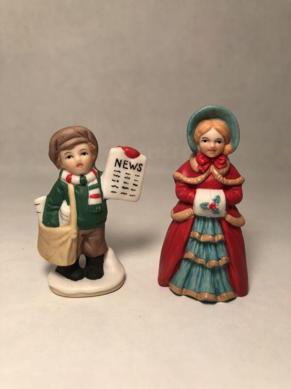 Lefton Colonial Village figurines 06735 06546