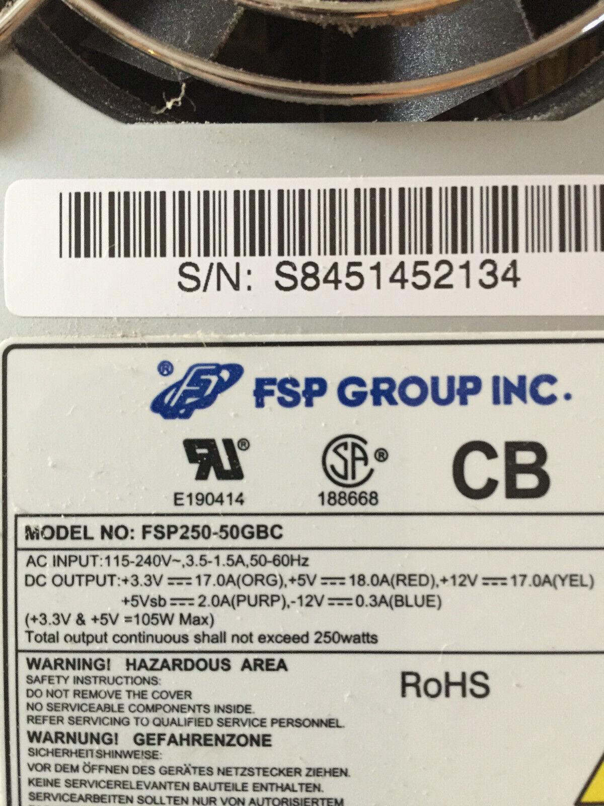 Alimentation pc atx fsp 250 -50gbc