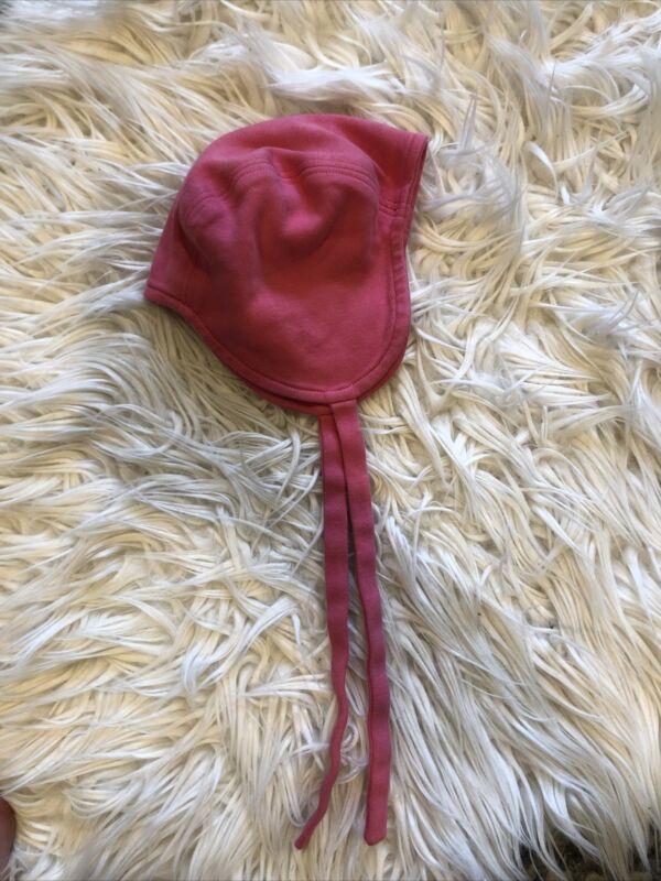 Baby Girl's Kat Quinn Organic Hat Bonnet 3-6 Months Pink