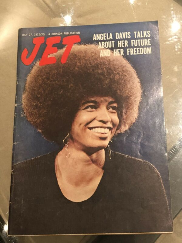 "1972~ JET MAGAZINE ""BLACK PANTHERS"" ANGELA DAVIS~ TALKS ABOUT HER FREEDOM"