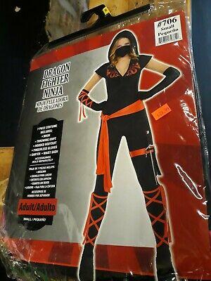Brand NEW Dragon Fighter Ninja Halloween Costume Women, Accessories Size Short