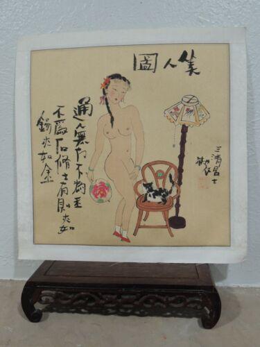 C.Beijing Customs handmade Painting with Beauty Figure