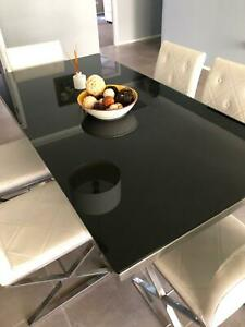 Dining Table Glass incl 6 chairs