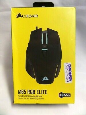 ⭐NEW⭐ Corsair M65 RGB Elite Tunable FPS Gaming Mouse - Black