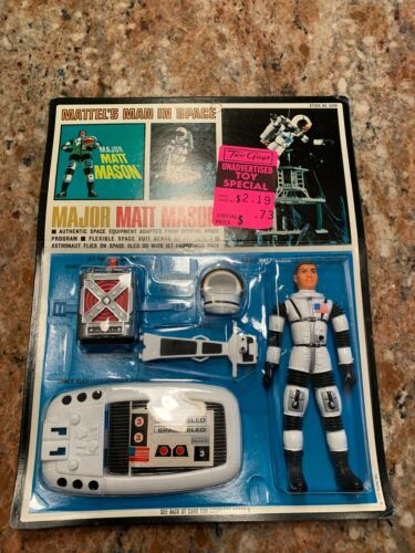 VINTAGE MATTEL MAJOR MATT MASON NEW OLD STOCK CARD FIGURE EQUIPMENT