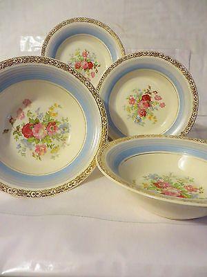 American Limoges Bowls Floral & Robin Egg Blue Shabby Chic Prince Rupert Triumph
