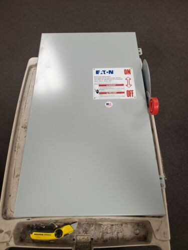 😎 EATON 200 AMP FUSED SAFETY SWITCH 600 VAC 150 HP 3 PHASE DH364FGK
