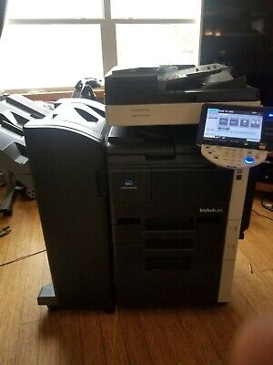 Konica Minolta Bizhub 283 Mono Copier Printer Scanner With Finisher