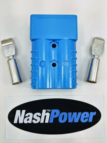 175 Amp Blue 1/0 AWG Battery Connector Replaces Anderson 175 Amp