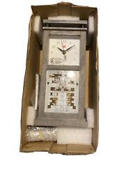 New Bulova Mantel Clock Bluetooth Weathered Oak Veneer Frank Lloyd Wright B4835