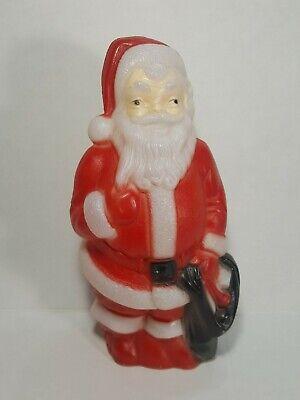 """Santa Blow Mold 1968 Empire Plastic St Nick Santa Claus Holiday 14"""" Tall Vintage"""