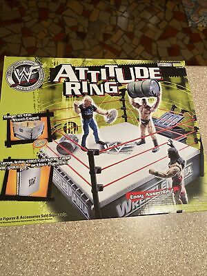 2001 Vintage Attitude Ring Steel Cage New In Box WWF