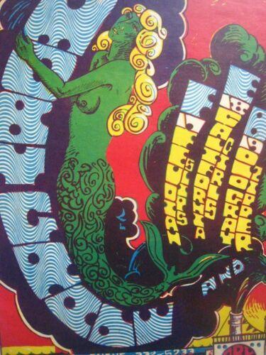 Original..The Ark,Moby Grape Debut Poster..20x14...1967..Sausalito,Mermaid